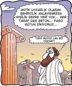 Türk müyüz lan yoksa? Karikatür