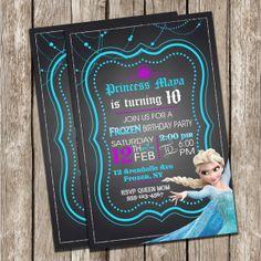 Frozen Invitation - Chalkboard Invitation - Frozen Birthday Party - DIY Printable on Etsy, $10.00