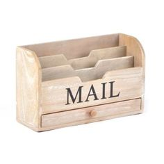 Need this at the end of my counter top to organize mail instead of stacks :) Wood Storage Mail Sorter