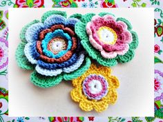 Delighted Petals Crochet Pattern by wonderfulhands on Etsy