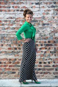 Elizabeth Polka Dot Long Skirt