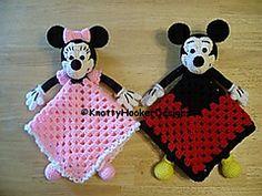 Ravelry: Mickey & Minnie Lovey Blankies pattern by Knotty Hooker Designs