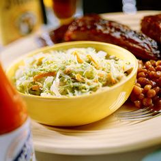 Best Barbecue Coleslaw    The key to this sensational slaw is the dressing. The combo of milk, buttermilk, lemon juice, and a little white vinegar elevate humble shredded cabbage to something truly spectacular. This recipe's creamy sweetness is the perfect partner to smoky barbecue.
