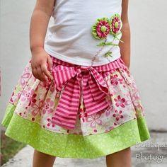 belle skirt Girls, baby, toddler ,E book, tutorial, PDF, downloadable, sewing pattern, easy, DIY, instant download, Spring, Easter, digital, e pattern, kids, sew, AllegroDigiPatterns,
