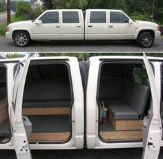 Dual-nosed Escalade Limousine #Cool #WeirdLimos #Cool #Exotic #Cars #CarsofPinterest