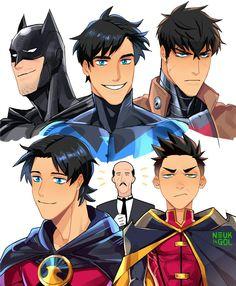 Batman Tim Drake, Dick Grayson, Jason Todd, Damian Wayne, And Alfred Nightwing, Batwoman, Batgirl, Damian Wayne, Red Robin, Robin Dc, Batman Y Superman, Batman Robin, Batman Arkham
