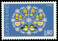 YAY Images - Postage stamp Finland 1988 Christmas Design by Christmas Design, Christmas Themes, Good Old Times, Stamp Printing, Paint Party, Mail Art, Stamp Collecting, Old Toys, Historia