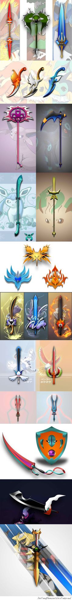Choose your Sword <---I CAN'T PICK I LOVE THEM ALL BUT THERE ARE MY FAV! They are the only dark/ghost type