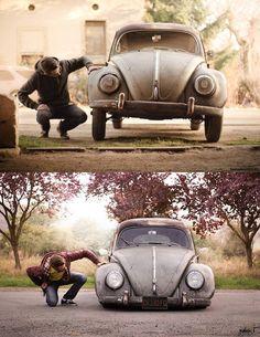 VW beetle Regular vs Slammed