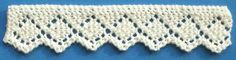 Torchon lace w/chart (1884 Knitted Lace Sample Book)