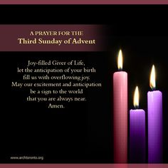 for the Third Sunday of Advent Prayer for the Third Sunday of Advent,Prayer for the Third Sunday of Advent, Einfach eine Tasse Basteln aus Eiswaffeln. Süsse Füllung für oder Prayer for the Fourth Sunday of Advent This More Prayer for the Second Sun. 2 Advent, Advent Wreath, Advent Ideas, Catholic Religion, Catholic Quotes, Advent Prayers Catholic, Third Sunday Of Advent, Advent Season, True Meaning Of Christmas