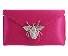 Charlie Pink ... wilbur & gussie signature clutch bag...silk envelope style clutch