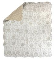 Silver Toile Reversible Quilt