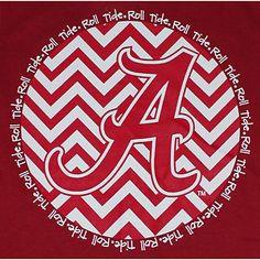 Alabama Crimson Tide Football T Shirts Chevron A Script Crimson Color T Shirt