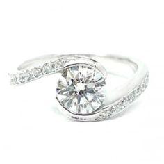 Anillo de Diamantes en Oro Blanco
