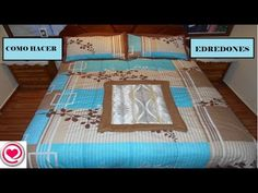 Aprende a hacer EDREDONES o CUBRE CAMA (con vídeo incluido) - Curso de costura Baby Shawer, Sewing Tools, Night Gown, Sewing Patterns, Quilts, Diy, Sonia Franco, Furniture, Youtube