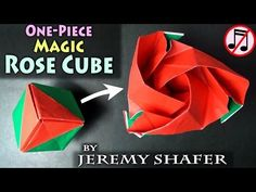 One-Piece Origami Magic Rose Cube (no music) - YouTube