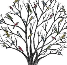 Living 'flowers': my kind of tree  http://www.rosiegainsborough.com/illustration.html