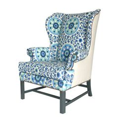 Love. I have a vintage wingback chair with a gorgeous paisley, but sadly, my lunatic dog has completely torn up the fabric. Thinking it's time for it to be reupholstered.