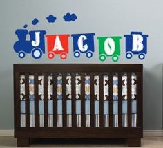 Toy Train wall decal set with personalized name by FairyDustDecals ...