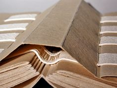 Ball Peen Bindery - hollow spine #bookbinding construction with textblock sewn on tapes