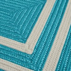Pacific Area Rug - Turquoise and White