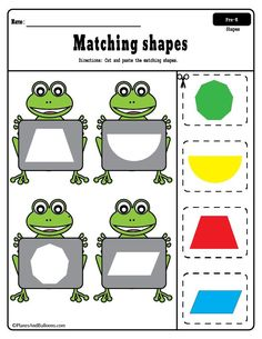 Fun free printable shapes worksheets for preschool. It's a great idea to add these cut and paste worksheets for preschool to my shapes theme. Shape Worksheets For Preschool, Body Preschool, Shapes Worksheets, Preschool Printables, Preschool Learning, Toddler Preschool, Preschool Crafts, Preschool Shapes, Toddler Worksheets