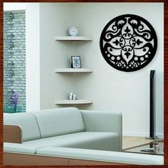 Quadro Decorativo Escultura De Parede Mdf Mandala Vazada