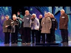A elderly singing group surprised the  judges of Britain's got talent 2012. I WANT to be like them at 88!!!! YES!