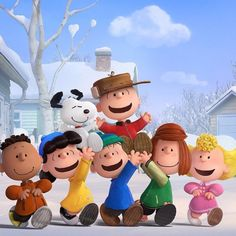"Snoopy and the gang are a'comin' and here's the full trailer for the film. Synopsis: Charlie Brown, Snoopy, Lucy, Linus and the rest of the beloved ""Peanuts"" gang make their b… Peanuts Snoopy, Die Peanuts, Peanuts Movie, Peanuts Characters, Cartoon Characters, Cartoon Dog, Charlie Brown Et Snoopy, Snoopy Love, Snoopy And Woodstock"