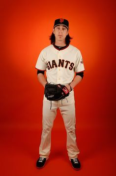 Pitcher Tim Lincecum #55 of the San Francisco Giants poses for a portrait during spring training photo day at Scottsdale Stadium on February 27, 2015 in Scottsdale, Arizona. (February 26, 2015 - Source: Christian Petersen/Getty Images North America)