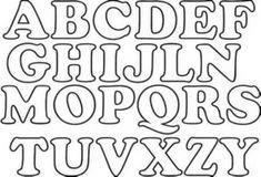Moldes de letras mayusculas para imprimir - Imagui | LETRAS ...