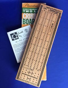 Pleasantime Cribbage Board Continuous Track Two Lane 1967 VIntage Card Game #715 #Pleasantime #Cribbage