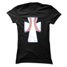 BASEBALL CROSS T Shirts, Hoodies, Sweatshirts. CHECK PRICE ==► https://www.sunfrog.com/Names/BASEBALL-CROSS-44420623-Ladies.html?41382