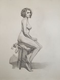 Long pose figure drawing, graphite from life. West Hollywood, Figure Drawing, Graphite, Art Sketches, Illustration Art, Poses, Drawings, Artwork, Life