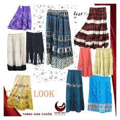 Boho Hippie Flare Skirts by boho-chic-2 on Polyvore