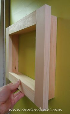 Wood Frame How to make a no miter cut frame free plans