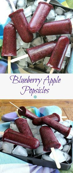 Blueberry Apple Popsicles are fruity, clean, fresh and cold. Only 2 ingredients to take you on your way to a healthy and easy treat.