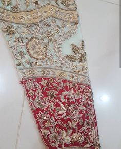 Zardosi Embroidery, Hand Embroidery Dress, Embroidery Suits Design, Couture Embroidery, Embroidery Fashion, Hand Embroidery Designs, Beaded Embroidery, Embroidery Blouses, Hand Work Design