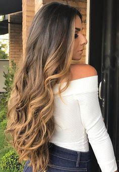 17 Stunning Dark Brown Hair with Blonde Highlights Examples) - Style My Hairs Brown Blonde Hair, Brunette Hair, Beautiful Long Hair, Gorgeous Hair, House Beautiful, Beautiful Beautiful, Hair Color Balayage, Hair Highlights, Bayalage