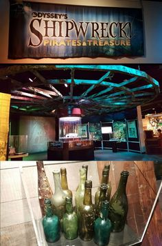 Odysey's Shipwreck Pirates & Treasure at the Durham Museum in Omaha, Nebraska - use a ROV arm to move coins and stand next to the full size replica of the Zeus ROV. GREAT roadtrip plan and kid friendly!
