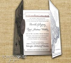 Powerhouse Etsy DC wedding invite