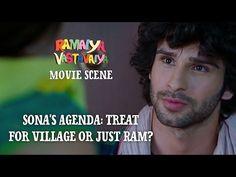 Sona's Agenda: Treat for Village or Just Ram? - Ramaiya Vastavaiya Scene - Girish & Shruti - YouTube