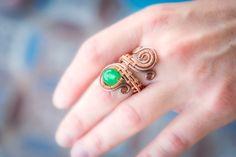FREE SHIPPING natural green Jade ring. Gem by Bellamagicaljewelry
