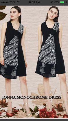 Blouse Batik, Batik Dress, Dress Batik Kombinasi, African Fashion Dresses, Fashion Outfits, Kebaya Modern Dress, Mother Daughter Fashion, Batik Kebaya, Dress Pesta