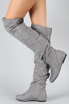 Vickie-HI Suede Slouchy Thigh High Boot