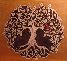 "Tree of Life - 24"" X 24"" on Russian Birch Plywood"