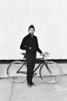 Men on bicycle