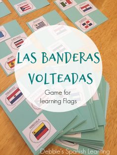 The Flipped Flags (Flag Game) Spanish Grammar, Spanish English, Spanish Language Learning, Teaching Spanish, Elementary Spanish, Spanish Class, Spanish Lessons, Learning Quotes, Learning Games