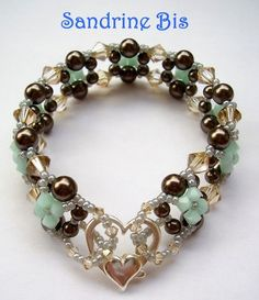 Pearl  Crystal Bracelet Tutorial  Love the clasp